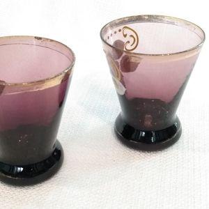 Accents - Vintage Handpainted Purple Glass